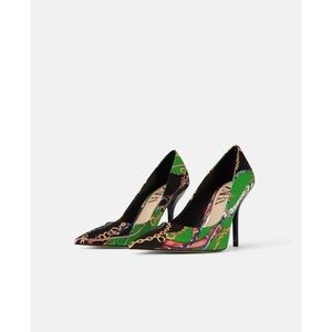 Zara chain print Mia heels sz. 37